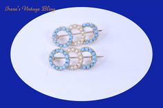 Vintage Lapail Pins Brooch Milk Glass Pins Pearl Pins Vintage