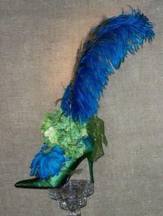 Centerpiece Unique Silk Floral Shoe by amazingunique on Etsy
