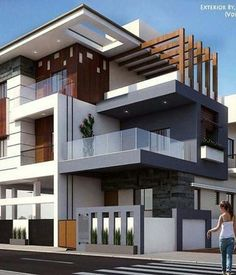 Integrating both interior and exterior living spaces has created a whole new niche in the design Modern Bungalow Exterior, Modern House Facades, Modern Exterior House Designs, House Architecture Styles, Architecture Building Design, Home Building Design, 3 Storey House Design, Bungalow House Design, House Front Design