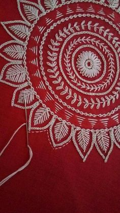 Handmade Embroidery Designs, Hand Embroidery Patterns Flowers, Hand Embroidery Videos, Embroidery Stitches Tutorial, Embroidery Works, Embroidery Motifs, Hand Embroidery Designs, Embroidery Techniques, Embroidery Kits