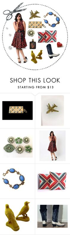 """""""Cut to the LOVE on Valentines"""" by seasidecollectibles ❤ liked on Polyvore featuring vintage"""