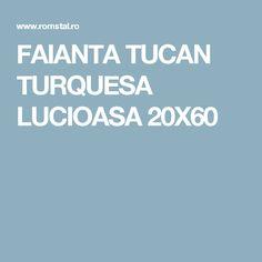 FAIANTA TUCAN TURQUESA LUCIOASA 20X60