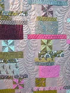 Quilt Market Spring 2012 - quilting by Angela Walters on this Tula Pink Quilt.