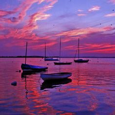 """Sundown at Surf City""  Photo: Steve Krenzel. Image: Coastal Living  #inspiration #sunset #boats"