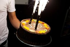 Sparkler Birthday Cake Candles