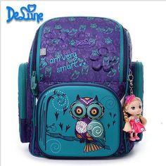 DELUNE Children Cartoon school bag 3D Cute Bear Flower Pattern Waterproof  Orthopedic Backpack Schoolbag Mochila Infantil 4504056b3c