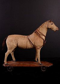Rare French Antique Toy Horse
