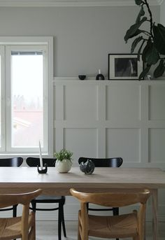 DIY WALL PANELS W/ CELLO - MAIJU SAW Kitchen Wall Panels, Wooden Wall Panels, Wood Panel Walls, Wooden Panelling, Wall Panelling, Wall Panel Design, Dining Room Inspiration, Living Room With Fireplace, Diy Wall