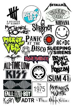 I like music more than people Rock Band Posters, Rock Band Logos, Rock Poster, Poster Wall, Rock Bands, Online Scrapbook, Scrapbook Stickers, Music Collage, Band Wallpapers