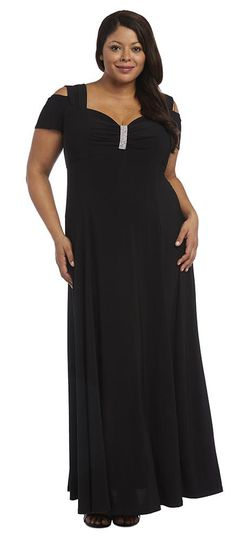 9a35025bc47 R M Richards Long Plus Size Formal Stretchy Evening Dress