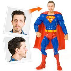 Personalized Superhero Action Figures! Superman, Batman, Joker, Catwoman and Wonderwoman!