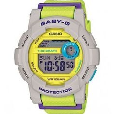 Women's Wrist Watches - Casio Ladies BabyG Grey Yellow Resin Digital Watch >>> Check this awesome product by going to the link at the image. G Watch, Casio Watch, Radio Controlled Watches, Casio Protrek, Sports Baby, Baby G, Japanese Models, Watches Online, Smartwatch