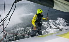 June 09, 2015. Leg 8 to Lorient onboard Team Brunel. Day 02. Strong Bay of Biscay conditions Stefan Coppers / Team Brunel / Volvo Ocean Race