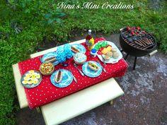 Miniature BBQ - My (Nina Eary) July Mini Project!