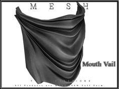 59c55d072279d5 Second Life Marketplace - Creations [ Mouth Veil ] Regular MESH - Full Perm…