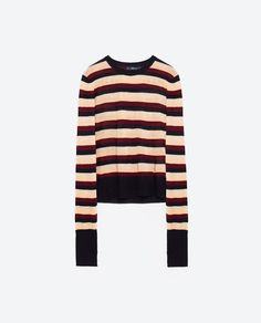 Image 8 of STRIPED CROPPED SWEATER from Zara