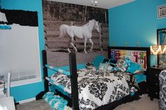 A fun, creative rooms for horse lovers!                                                                                                                                                                                 More