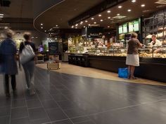 Gewerbe Bodenbelag | Feinsteinzeugfliesen | Topgres Referenzen: Rewe Friedrichsdorf Mall, Floor Covering, Template