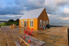 seasonal house on an island