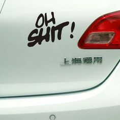 Take a stickers next to your car's light to express your mood.