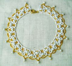 Free pattern for necklace Perla Click on link to get pattern - http://beadsmagic.com/?p=7169