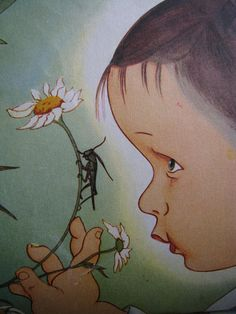 """Illustrations taken from """"My Little Golden Book about God"""", by Jane Werner Watson. Pictures by Eloise Wilkin.1974"""
