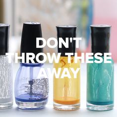 5 Ways To Use The Last Bit Of Everything #nailpolish #lipstick #makeup #candles