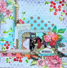 Layout by Marleen with step by step video.