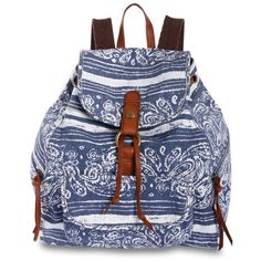 Lucky Brand Handbag, Palisades Paisley Backpack ($67) ❤ liked on Polyvore featuring bags, backpacks, accessories, purses, women, leather backpack, backpacks bags, leather backpack bag, leather rucksack and leather bags