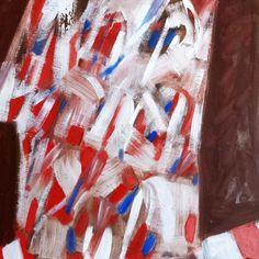 """""""Abstrait"""", 1982. Acrylique sur panneau. Dimension: 75x75 cm www.fondationsolangebertrand.org"""