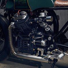 Honda Café Racer by PopBang Classics Cx500 Cafe Racer, Cafe Racer Build, Scrambler, Honda Cx500, Honda Motorcycles, Custom Motorcycles, Custom Bikes, Honda Bikes, Cb750