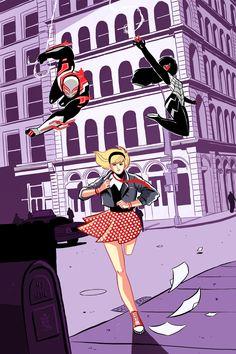 Spider-Gwen, Silk & 2099 Team Up -  George Kambadais