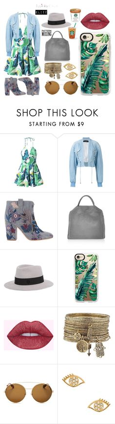 """""""Still Smoking"""" by elizz-denne on Polyvore featuring Balmain, Laurence Dacade, STELLA McCARTNEY, Maison Michel, Casetify, Givenchy and Rebecca Minkoff"""