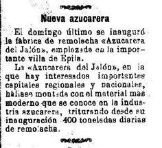 Historias de Épila: Azucarera del Jalón 115 después