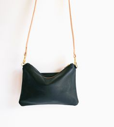 Soft Leather Crossbody Pouch. For those light-travel days:)