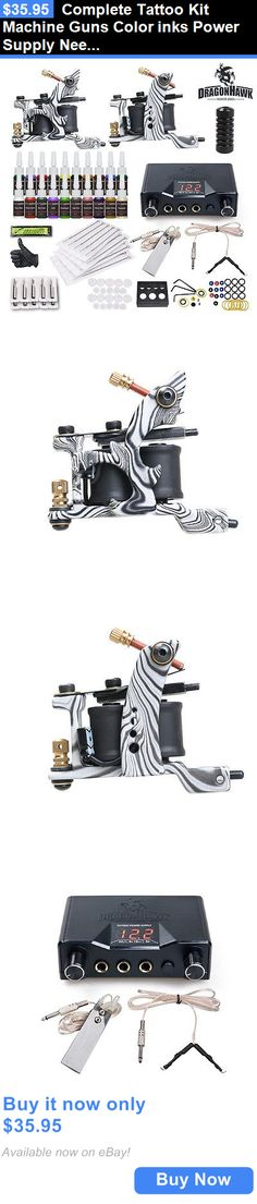 Tattoo Complete Kits: Complete Tattoo Kit Machine Guns Color Inks Power Supply Needles Hw-21Vd-6 BUY IT NOW ONLY: $35.95