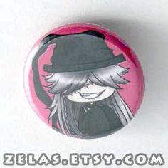 Chibi Anime Button: Black Butler - Undertaker on Etsy, $2.00