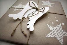 And has the Christ child all your presents already … – # … - Geschenke Ideen Christmas Gift Wrapping, Craft Gifts, Diy Gifts, Holiday Gifts, Handmade Gifts, Winter Christmas, Christmas Crafts, Christmas Decorations, Creative Gift Wrapping