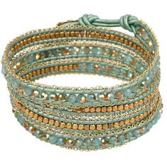 Nakamol Beaded Wrap Bracelet ($49) ❤ liked on Polyvore