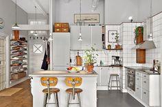 my scandinavian home kitchen Lemon Kitchen Decor, Rustic Kitchen, Country Kitchen, Kitchen Grey, Boho Kitchen, Küchen Design, House Design, Sweet Home, Cuisines Design