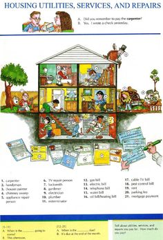 23 - HOUSING UTILITIES, SERVICE AND REPAIRS - Pictures dictionary - English…