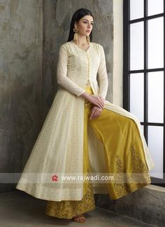 Cotton Resham Work Palazzo Suit Best Picture For Women Dress For Your TasteYou are looking for something, and it is going to tell you exactly what you are looking for, and you didn't find that picture. Party Wear Indian Dresses, Designer Party Wear Dresses, Indian Gowns Dresses, Dress Indian Style, Kurti Designs Party Wear, Indian Wedding Outfits, Indian Outfits, Dress Party, Designs For Dresses