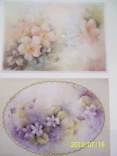 "China Painting Study 80 ""Violets Wild Roses"" Helen Humes 2 Pages 