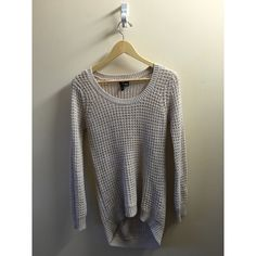 Long Knit Sweater Worn a few times. Really good condition. It's a size large, but is really snug fitting. Fits more like a sm/med. Nordstrom Sweaters Crew & Scoop Necks