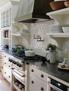 Kitchen - White tile