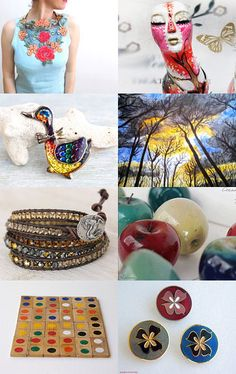 Colorful selections for you! by Be Uz on Etsy--Pinned with TreasuryPin.com