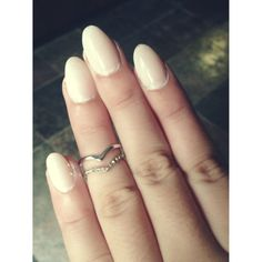 Nude almond nails are so Classy!! Simple and feminine