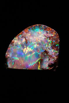 purple opal stones | Opal Stone from Houston Natural Science Museum | Flickr - Photo ...