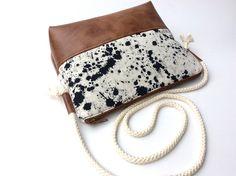 Umhängetaschen - Kleine Umhängetasche Lisabeth mit Baumwollkordel - ein Designerstück von Millionbags bei DaWanda