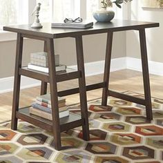 Lewis Small Desk in Medium Brown | Nebraska Furniture Mart